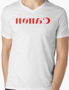 Nonac/Canon Halftone Mirror Mens V-Neck T-Shirt