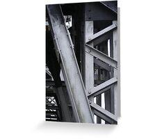Abstract Crane Greeting Card