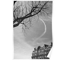Trainée de nuage dans le ciel, Paris Poster