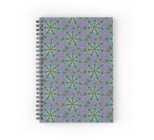 Star shape fractals, blue, teal, purple multicolor art Spiral Notebook