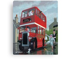bus stop queue Canvas Print