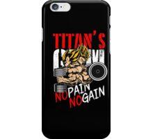 no pain no gain iPhone Case/Skin
