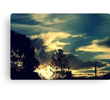 Sunset In The Suburb Canvas Print
