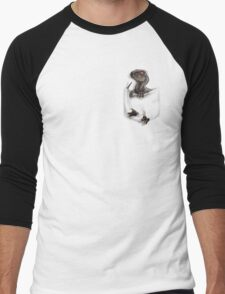 Pocket Protector - Male Raptor Men's Baseball ¾ T-Shirt