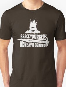 Monday is Coming (Game of Thrones) (White) T-Shirt