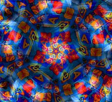 Coffee Cup Kaleidoscope by Maria Schlossberg
