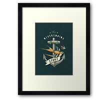 Anchor | Petrol Grey Framed Print