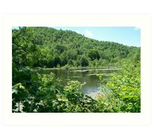 Easton Mountain NY, Lower Pond  Art Print