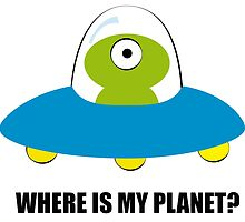 Where is my Planet? by spitspotart