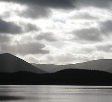 Loch Morlich Dramatic Sky by Tazfiend