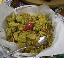 Garden Fresh Fried Okra by ArtistJD