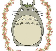 Totoro w/ Flower Frame by princessnoodle