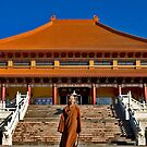 Portraits: Venerable Ru Yi in front of the Main temple at Nan Tien Temple, Berkeley NSW by Vanessa Pike-Russell