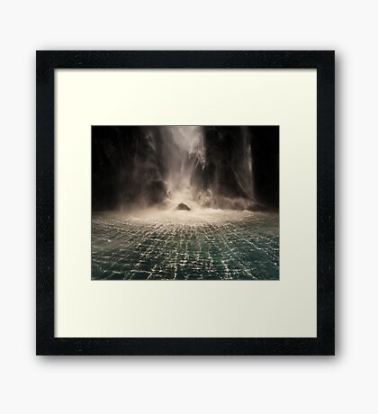 Lord of the Rings Waterfall Framed Print