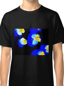 Blue Pansies Abstract Classic T-Shirt