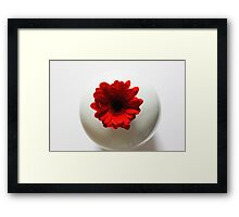 Simply red....and white Framed Print