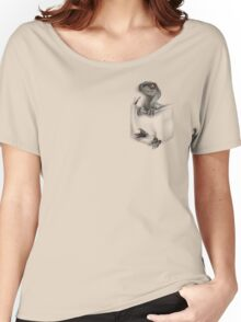 Pocket Protector - Female Raptor Women's Relaxed Fit T-Shirt