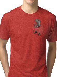 Pocket Protector - Female Raptor Tri-blend T-Shirt