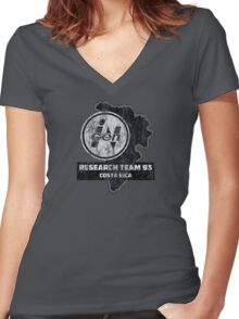 INGEN Research Team 93 Women's Fitted V-Neck T-Shirt