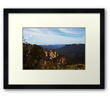 Three Sisters -Blue  Mountains- Framed Print