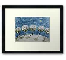 Moonlight night Framed Print