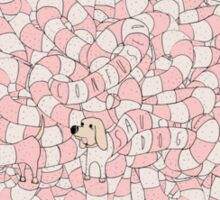 Sausage Dog Pattern Sticker