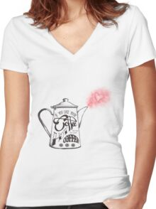 If You Like Your Coffee Hot... Women's Fitted V-Neck T-Shirt