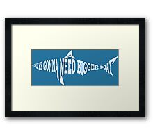 40 years of Jaws BLUE Framed Print