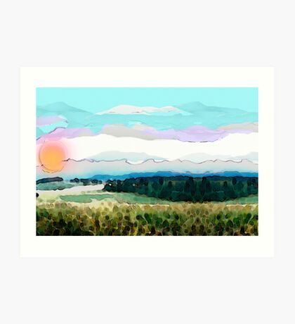 How beautiful was my valley Art Print