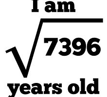 86th Birthday Square Root by GiftIdea