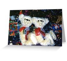 Christmas Teddies Greeting Card