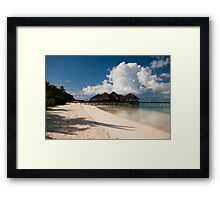 Beach Bar Maldives Framed Print