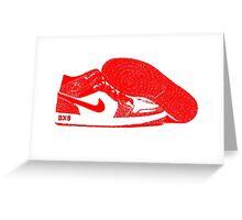 Red DX9 Jordans Greeting Card