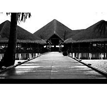 Tropical Island Beach Bar Photographic Print