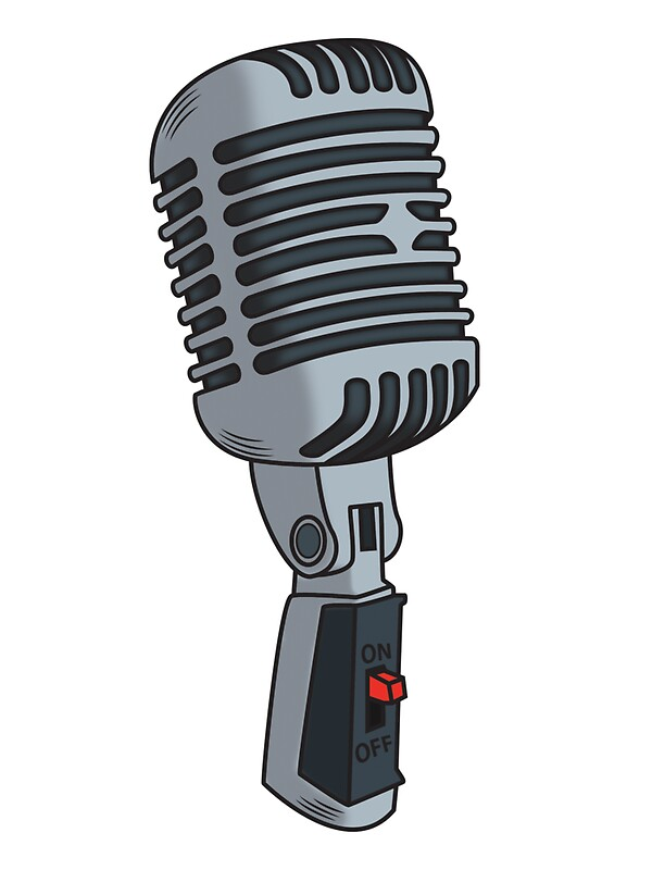 Quot Old School Microphone Quot Stickers By Eric Hollaway Redbubble