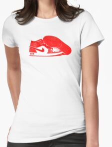 Red DX9 Jordans Womens Fitted T-Shirt
