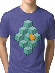 QBert is waiting... Tri-blend T-Shirt
