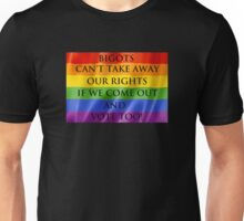 Equality requires equal effort Unisex T-Shirt