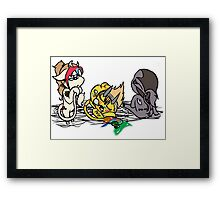 Sleepy Chibi Framed Print