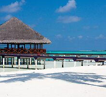 Beach Bar Over Water Medhufushi Maldives by Craig Ringland