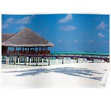 Beach Bar Over Water Medhufushi Maldives Poster