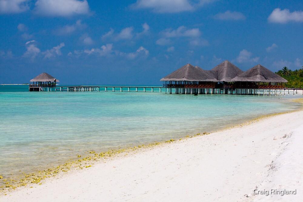 Beach and Beach Bar Maldives by Craig Ringland