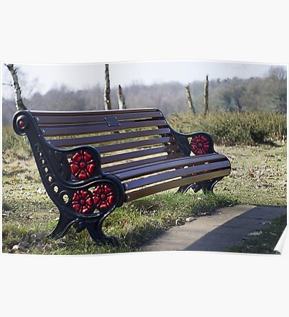 The red and black bench Poster