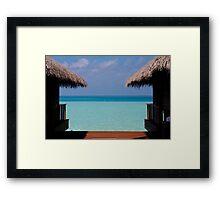 Over Water Villas Medhufushi Maldives Framed Print