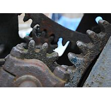 Gears - old port crane in Gdansk, Poland Photographic Print