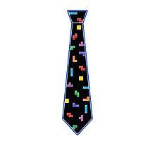 Tetris Tie - Blue by GeekyAngel
