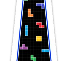 Tetris Tie - Blue Sticker