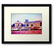 Parking Outside The Museum in Paris 1973 Framed Print