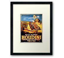 Master mystifier Houdini Rare Vintage Framed Print