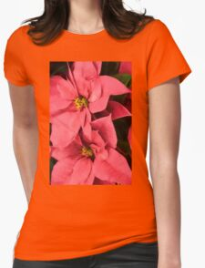 Hot Pink Poinsettias a la Georgia O'Keeffe T-Shirt